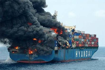حوادث آتش سوزی کشتی