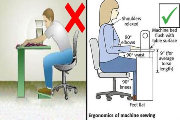 ارگونومی صندلی کارگاه خیاطی