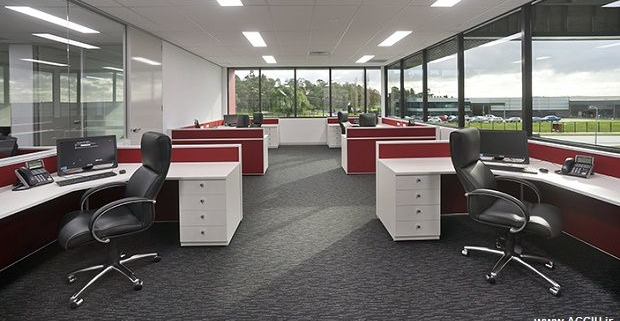 طراحی ایستگاه کار دفتری و نظارتی