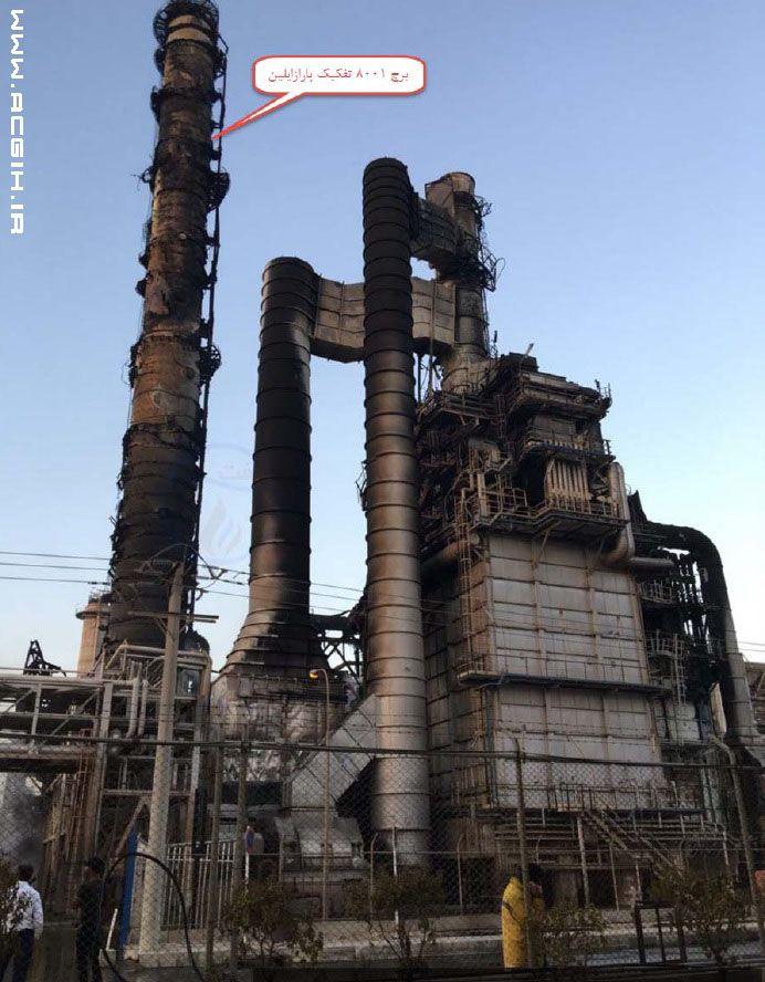 عکس برج 8001 بعد از حادثه آتش سوزی