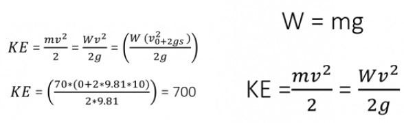 نمونه محاسبه انرژی جنبشی