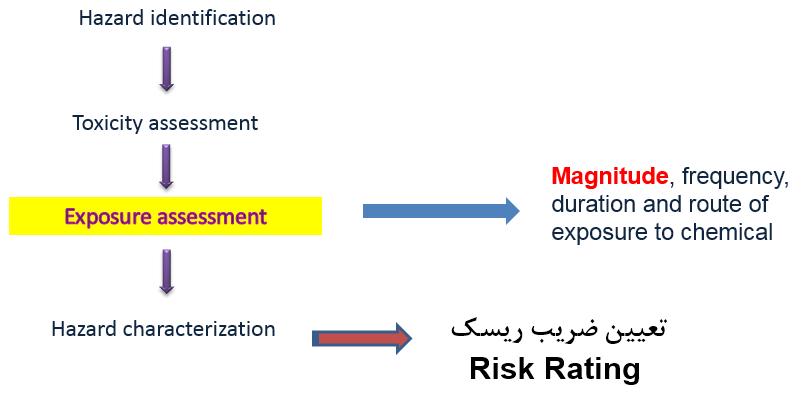 مراحل ارزیابی ریسک مواد شیمیایی