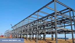 Steel structure ایمنی نصب اسکلت فلزی