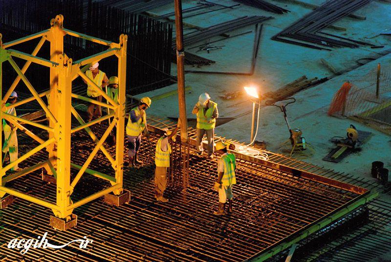 ايمنی در پی ريزی تاورکرین Tower Crane Foundation Safety