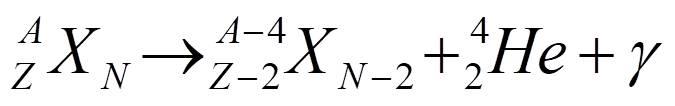 فرمول واپاشی آلفا