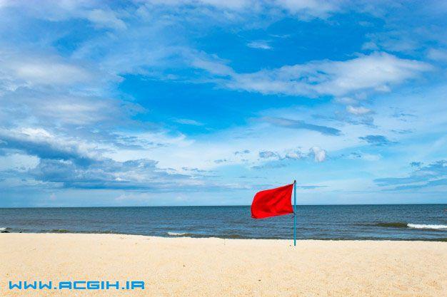 پرچم هشدار دهنده در سواحل