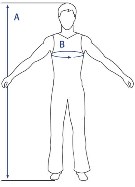 اندازه لباس کار
