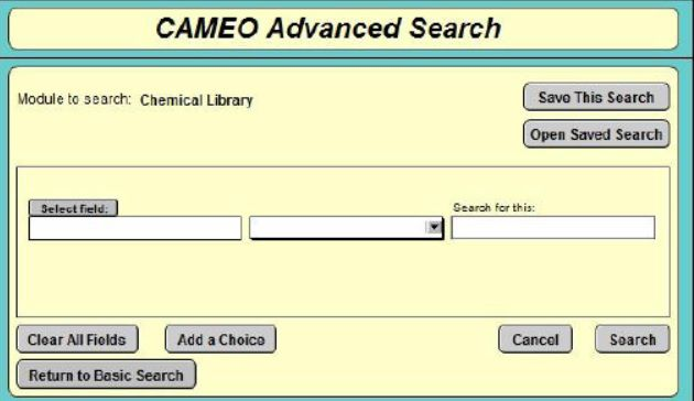 شکل 3: نمایی از پنجره جستجوی پیشرفته مواد