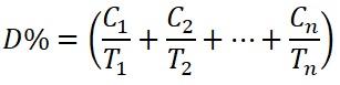 فرمول دز مجاز در زمان ها و ترازهای مختلف