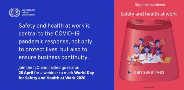 شعار روز جهانی ایمنی و بهداشت حرفه ای سال 2020
