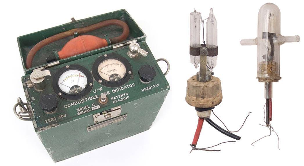 دومین نمونه سنسور کاتالیستی ساخته شده توسط دکتر الیور جانسون