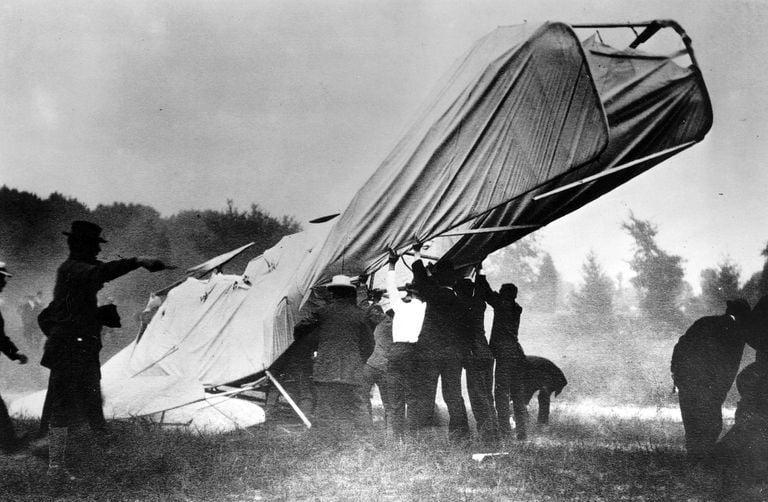 نخستین سانحه ی هوایی مرگبار
