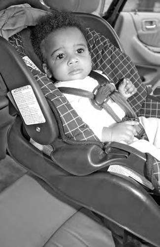 طرز صحیح قرار دادن کودک در صندلی ماشین
