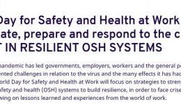 شعار روز جهانی ایمنی و بهداشت حرفه ای سال 2021