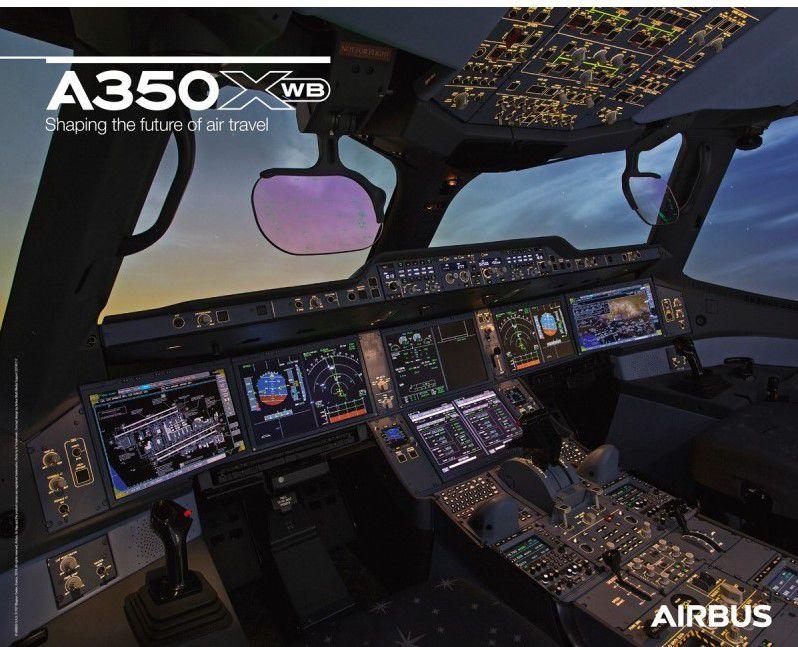 کابین هواپیمای مدرن ایرباس A350XWB